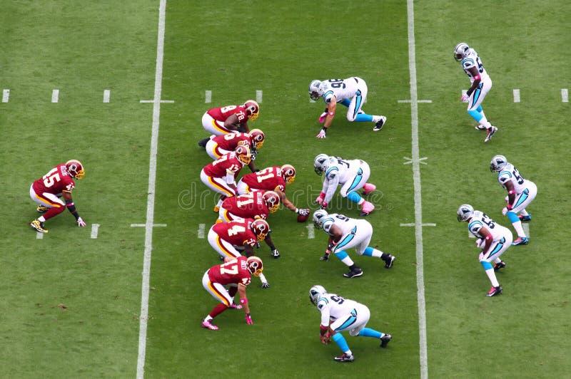 NFL - Prêt ! Positionnement ! photo stock