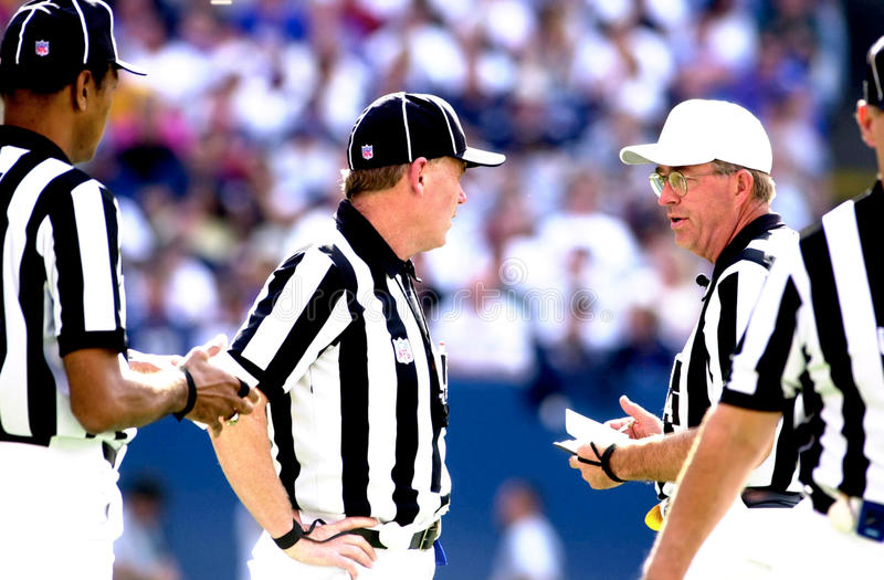 NFL Referees stock photography