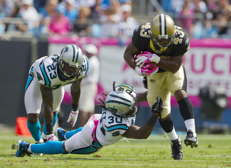 NFL : Saints du 9 octobre contre des panthères image stock