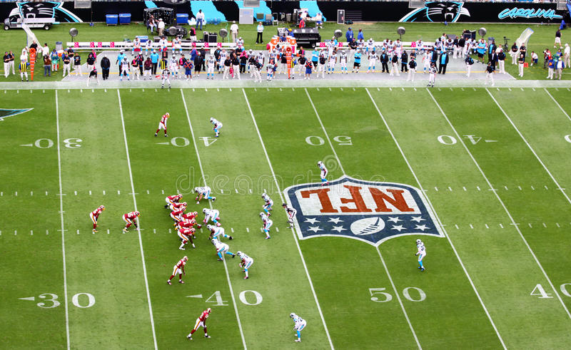 NFL - spread offense, I formation royalty free stock photo