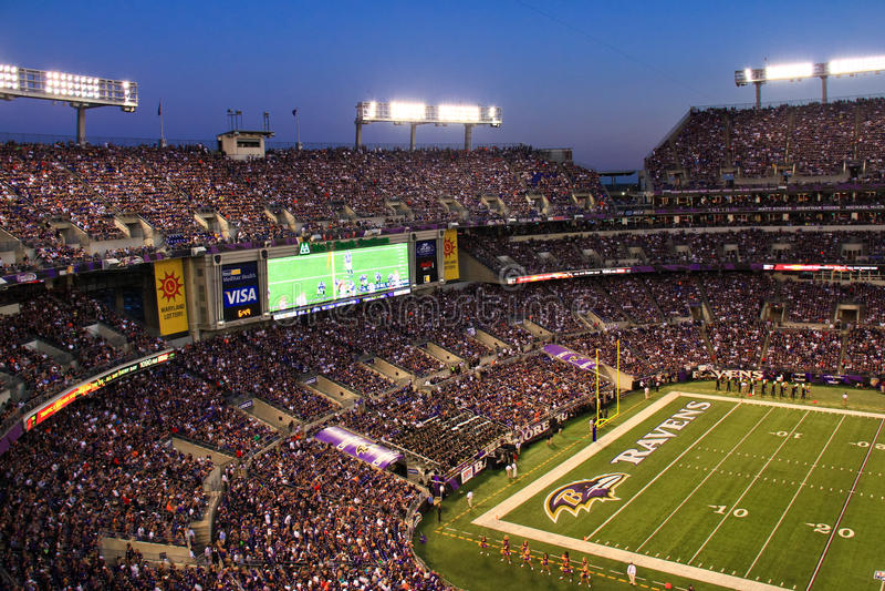 NFL - W Baltimore noc Futbol obrazy stock