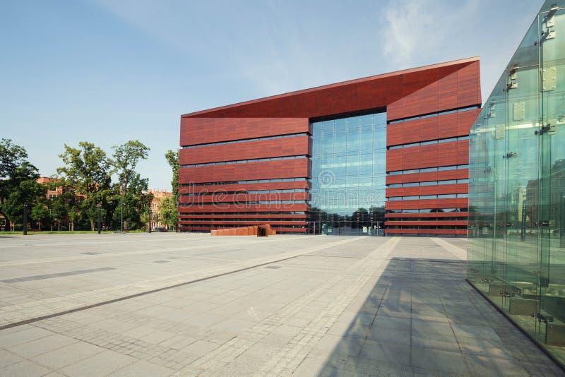 NFM-de bouw Nationaal Forum van Muziek in Wroclaw polen Juni 2019 royalty-vrije stock afbeeldingen