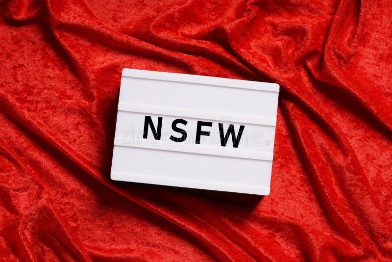Nfsw es argot de Internet para no seguro para el trabajo foto de archivo libre de regalías