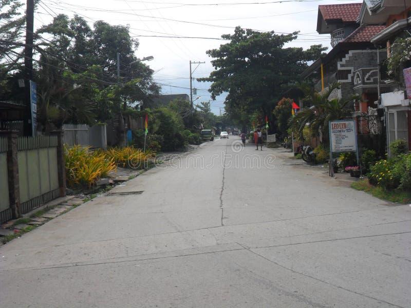 Ng Cagayan de Oro Mindanao Philippines Summer 2018 de Lungsod Exótico e ar Casas e ruas fotografia de stock royalty free