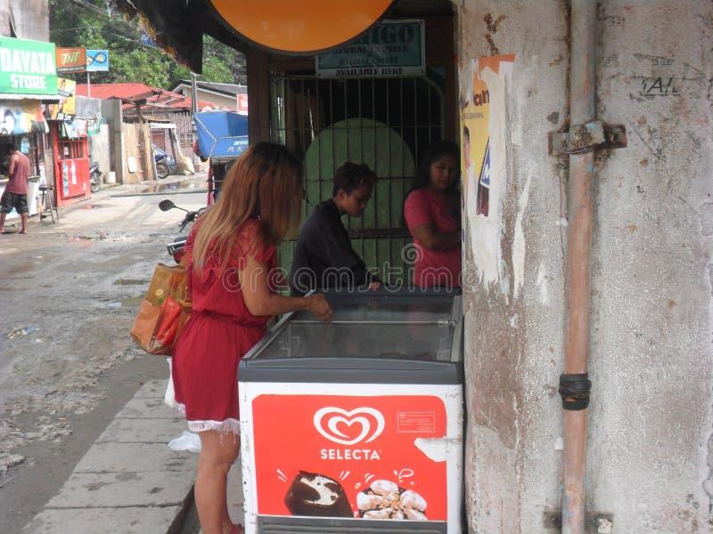 Ng Cagayan de Oro Mindanao Philippines Summer 2018 de Lungsod Exótico e ar Casas e ruas imagens de stock royalty free
