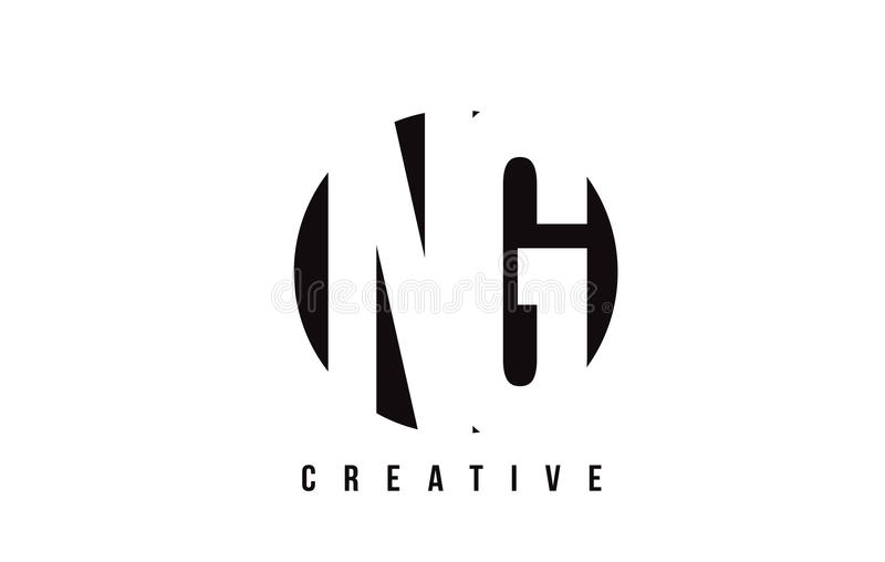 NG N G White Letter Logo Design With Circle Background. Stock Vector ...