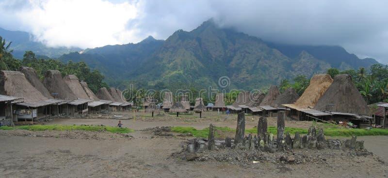 Ngada Dorf Indonesien lizenzfreie stockfotografie
