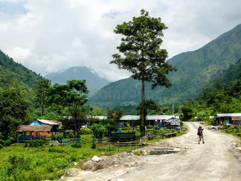 Ngadi village, Nepal - Annapurna trekking royalty free stock photo
