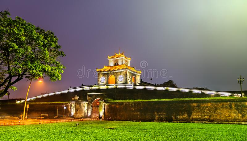 Ngan Gate to the Imperial City in Hue, Vietnam. Ngan Gate to the Imperial City in Hue. UNESCO world heritage in Vietnam royalty free stock photo