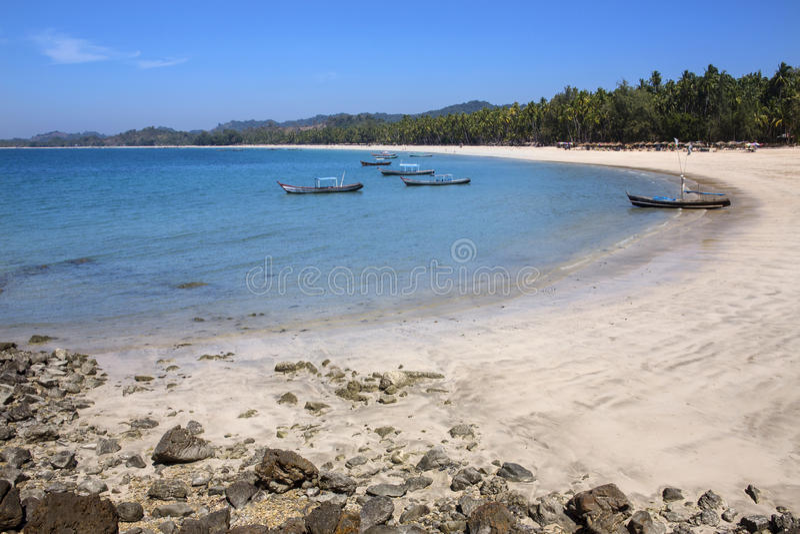 Ngapali plaża Myanmar - Rakhine stan - fotografia royalty free