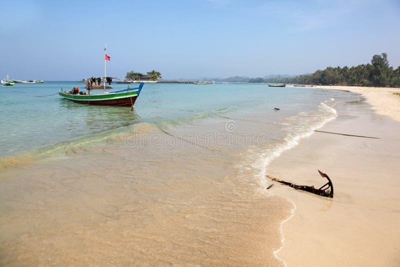 Ngapali strand Myanmar arkivbilder