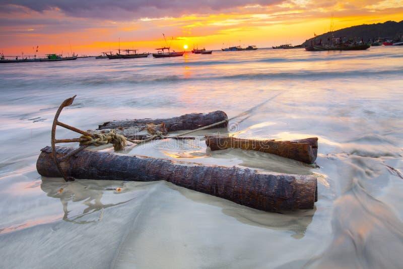 Ngapali strand Myanmar royaltyfria foton
