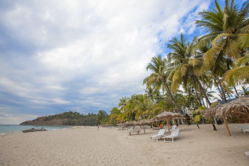 Ngapali-Strand Myanmar lizenzfreie stockfotos