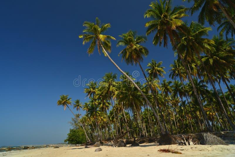 Ngapali strand, Myanmar (Burman) arkivfoton