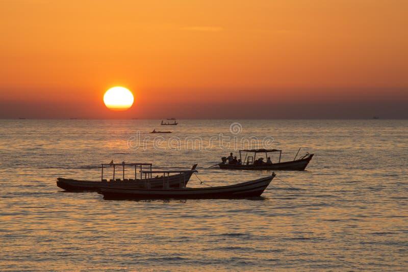 Ngapali strand - statliga Rakhine - Myanmar royaltyfri bild