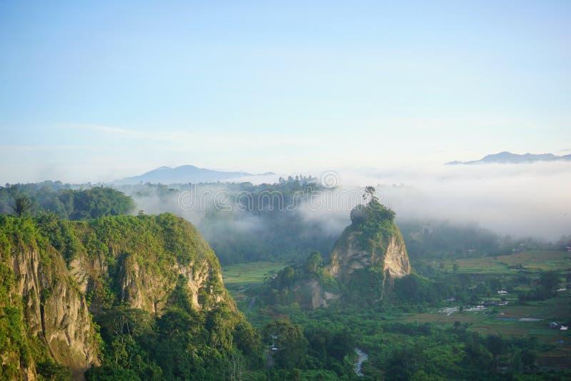 Ngarai Sianok bei Agam City West Sumatera Indonesia lizenzfreie stockbilder