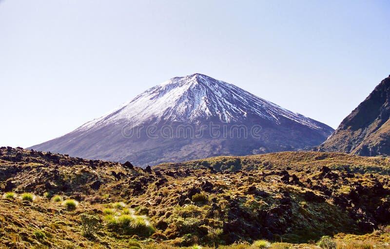 Ngauruhoe Volcano, New Zealand stock images