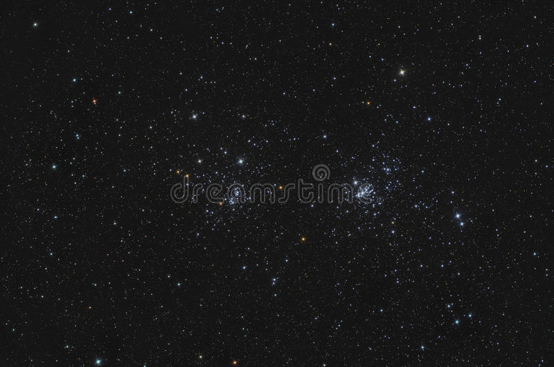 Download NGC 869 And NGC 884 Double Open Cluster In Perseus Stock Image - Image of orbit, deep: 27967885