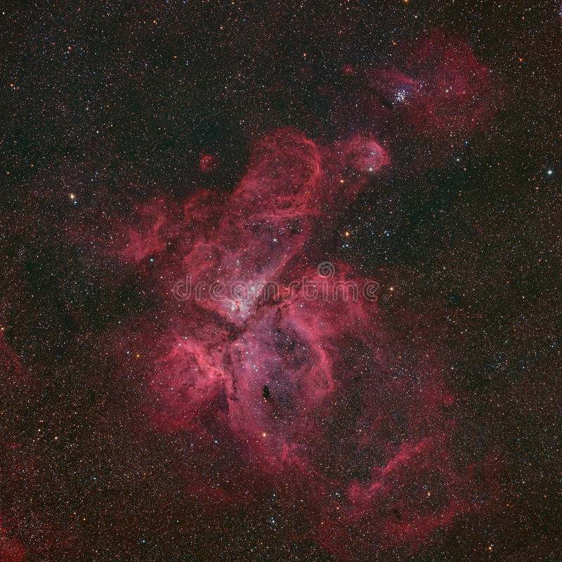 NGC 3372 Eta łódeczek mgławica zdjęcia royalty free