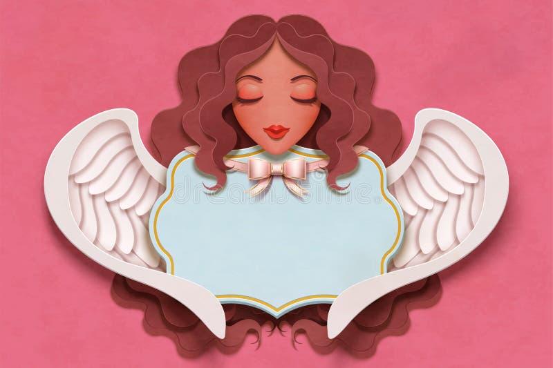 ?ngel hermoso con el pelo rizado libre illustration