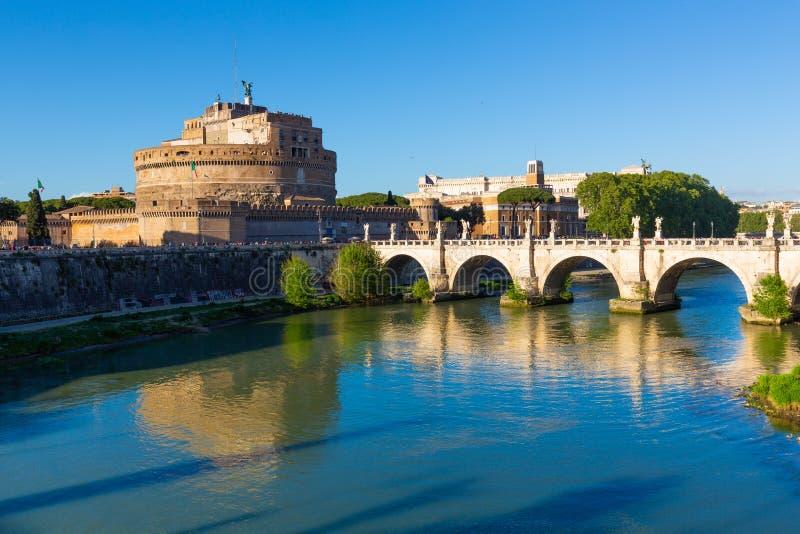 ` ?ngel, Roma, Italia de Castel Sant fotos de archivo