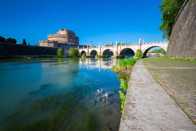 ` ?ngel, Roma, Italia de Castel Sant fotografía de archivo libre de regalías