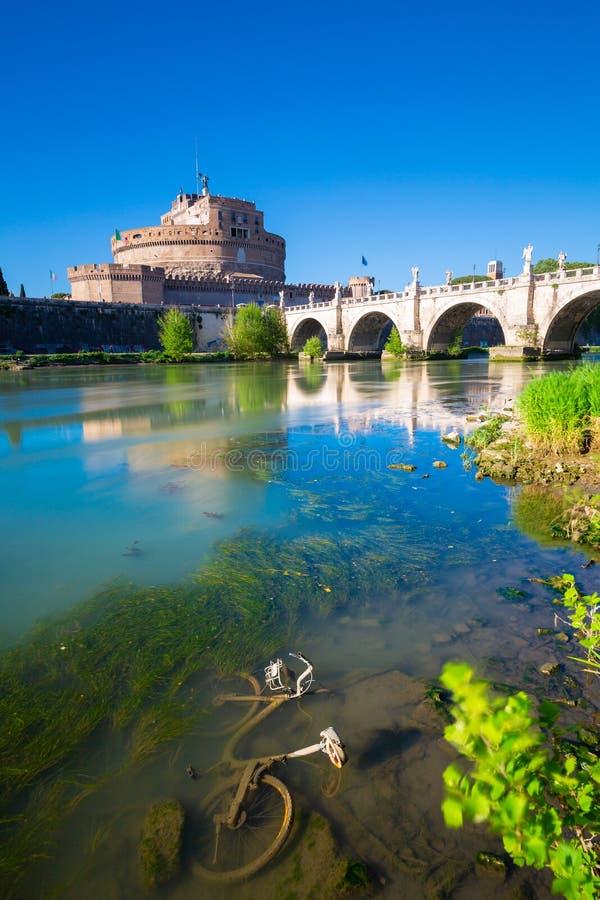 ` ?ngel, Roma, Italia de Castel Sant imagenes de archivo