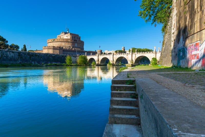 ` ?ngel, Roma, Italia de Castel Sant imagen de archivo libre de regalías