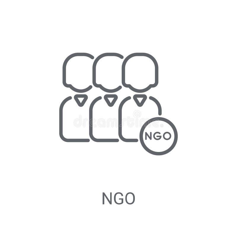 Ngo象 在白色背景的时髦Ngo商标概念从Polit 皇族释放例证