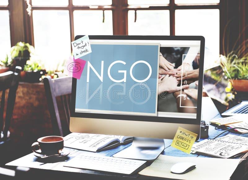 NGO Contribution Corporate Foundation Nonprofit Concept royalty free stock photography
