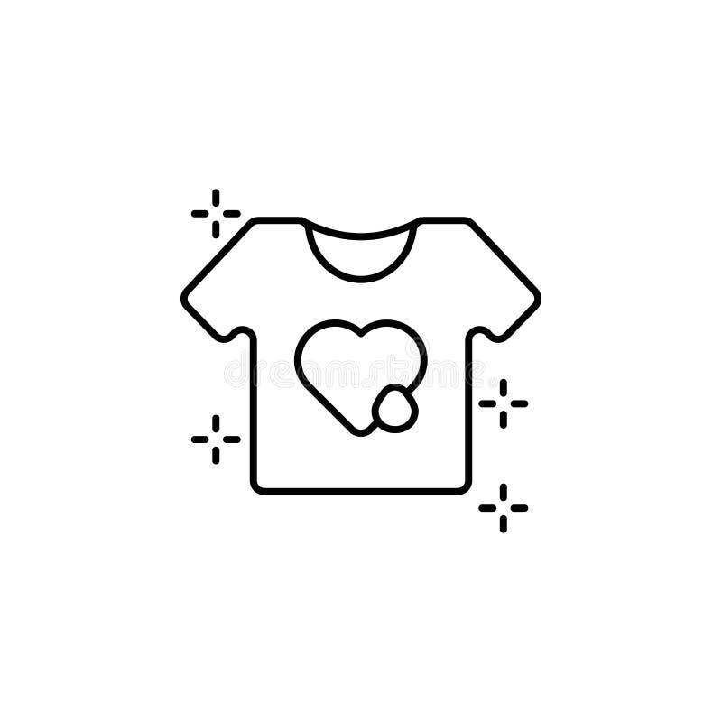 NGO t-shirt heart drop icon. Element of no government organisation icon. NGO t-shirt heart drop icon. Element of no government organisation on white background royalty free illustration