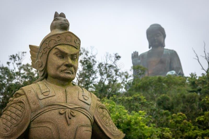 Ngong Ping, Hong Kong- Tian Tan Buddha Statue in Ngong Ping stock image