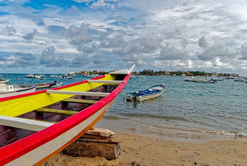 NGor海滩岸在达喀尔 库存照片