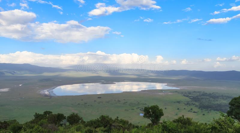 NgoroNgoro火山口风景  坦桑尼亚,非洲 图库摄影