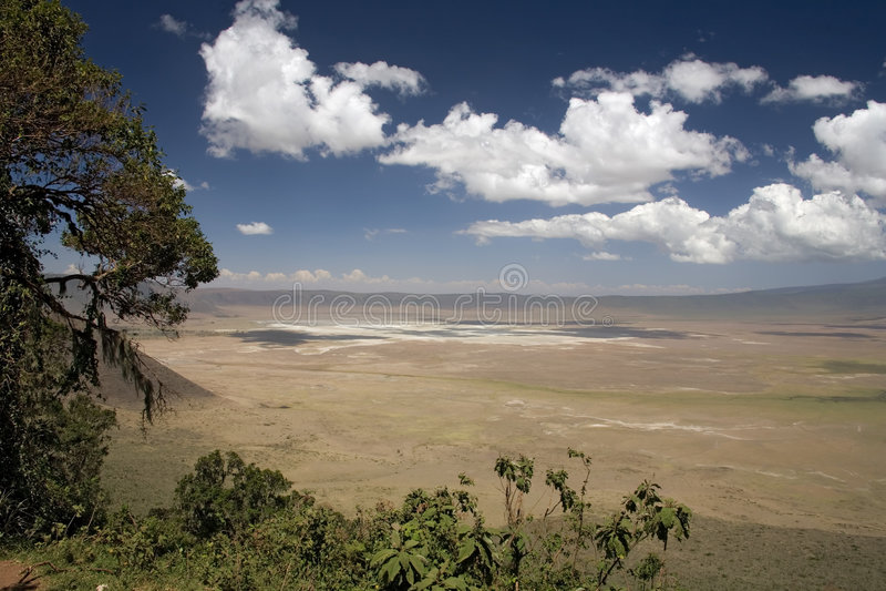 Ngorongoro del paisaje 010 de África fotografía de archivo libre de regalías