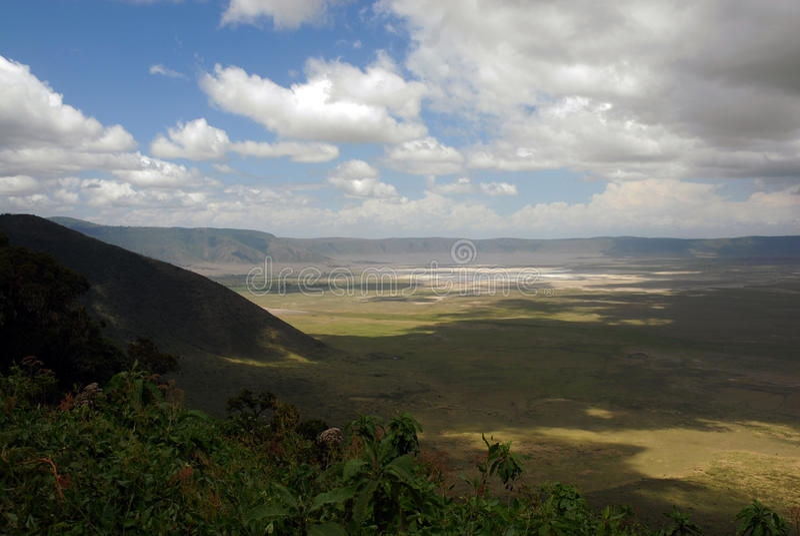 Ngorongoro krater royaltyfri foto