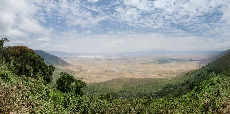 Ngorongoro krater arkivbild