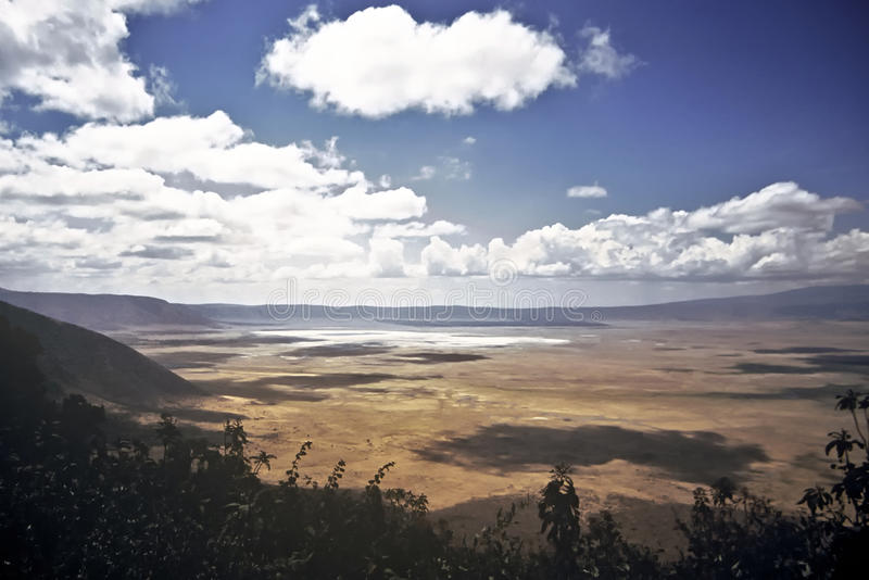 Ngorongoro Krater, Tanzania lizenzfreies stockbild