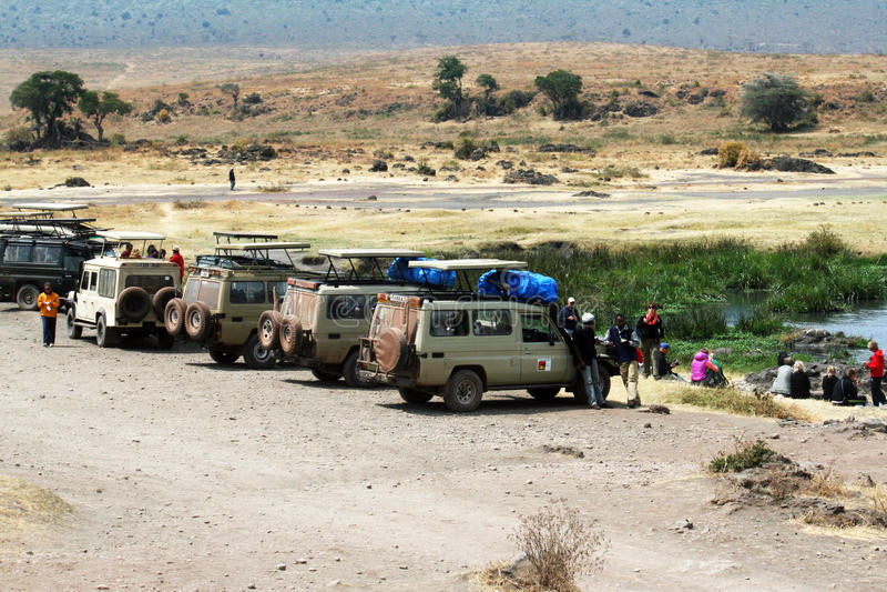 Ngorongoro parkering royaltyfria bilder
