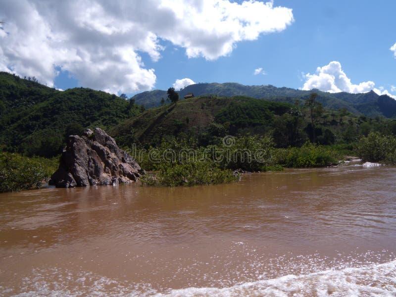 Ngoy Nua i Laos fotografia stock libera da diritti