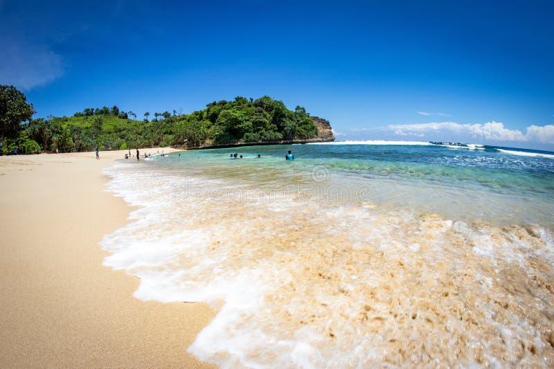 Ngudel strand Malang, Indonesien arkivfoton