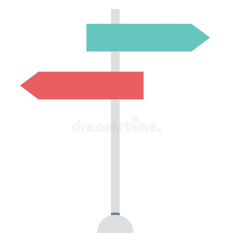Guidepost, Signpost Isolated Vector Icons can be modify with any Style stock illustration