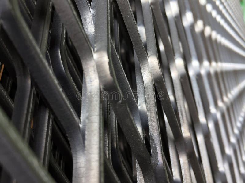 Ângulo de estreito da grade do metal teste padrão do grating de aço É uma estrutura das barras espaçadas que estão paralelas imagens de stock royalty free