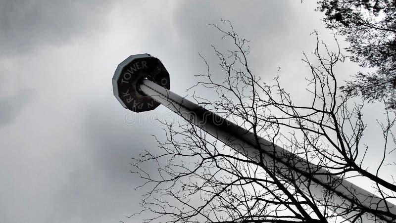 Ângulo do céu da torre do parque do oceano foto de stock royalty free
