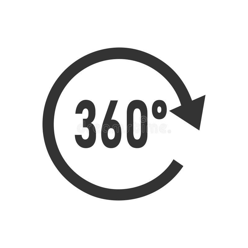 Ângulo 360 graus de ícone horizontalmente ilustração royalty free