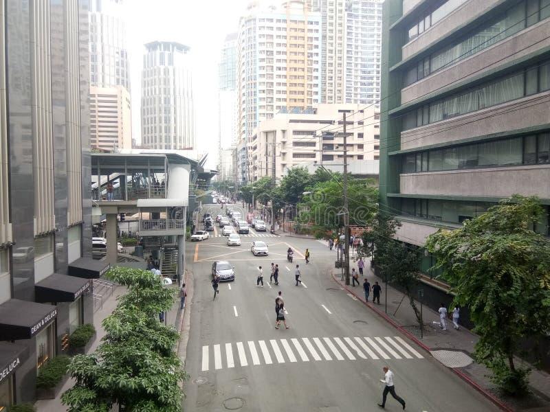 Ângulos de uma rua fotografia de stock royalty free