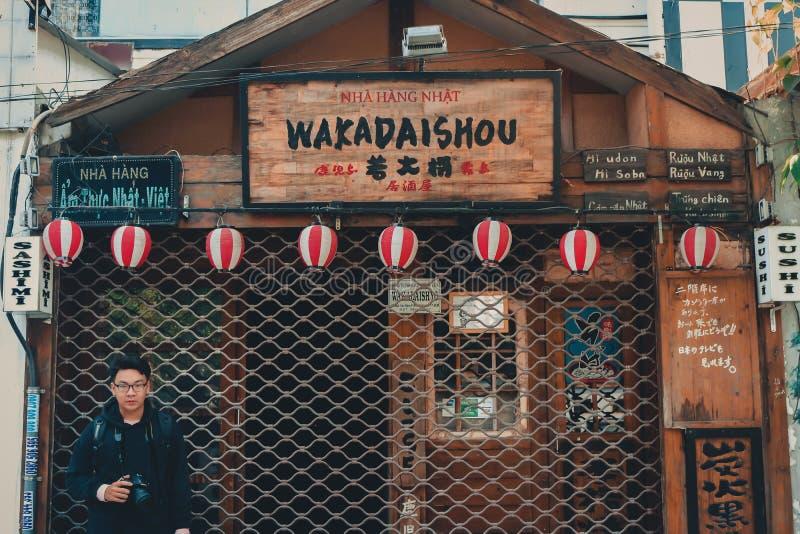 Nha Hang Nhat Wakadaishou Store Facade foto de archivo libre de regalías