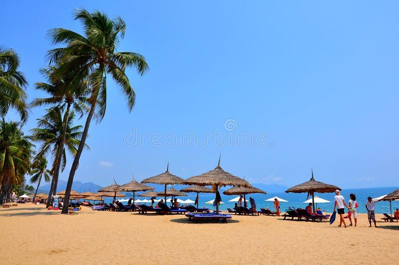 Пляж Nha Trang, Вьетнам стоковое изображение rf