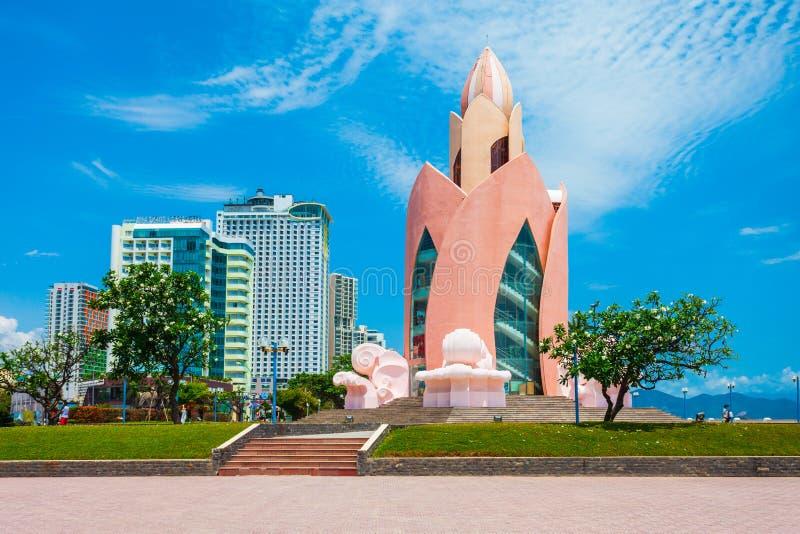 Nha Trang miasta linia horyzontu, Wietnam zdjęcie royalty free