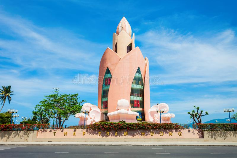 Nha Trang miasta linia horyzontu, Wietnam fotografia stock